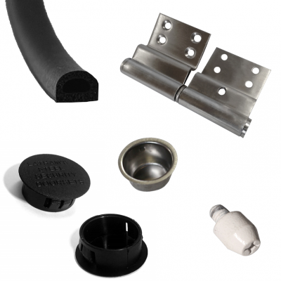 Replacement Parts e.g. Hinges, Seal, Caps