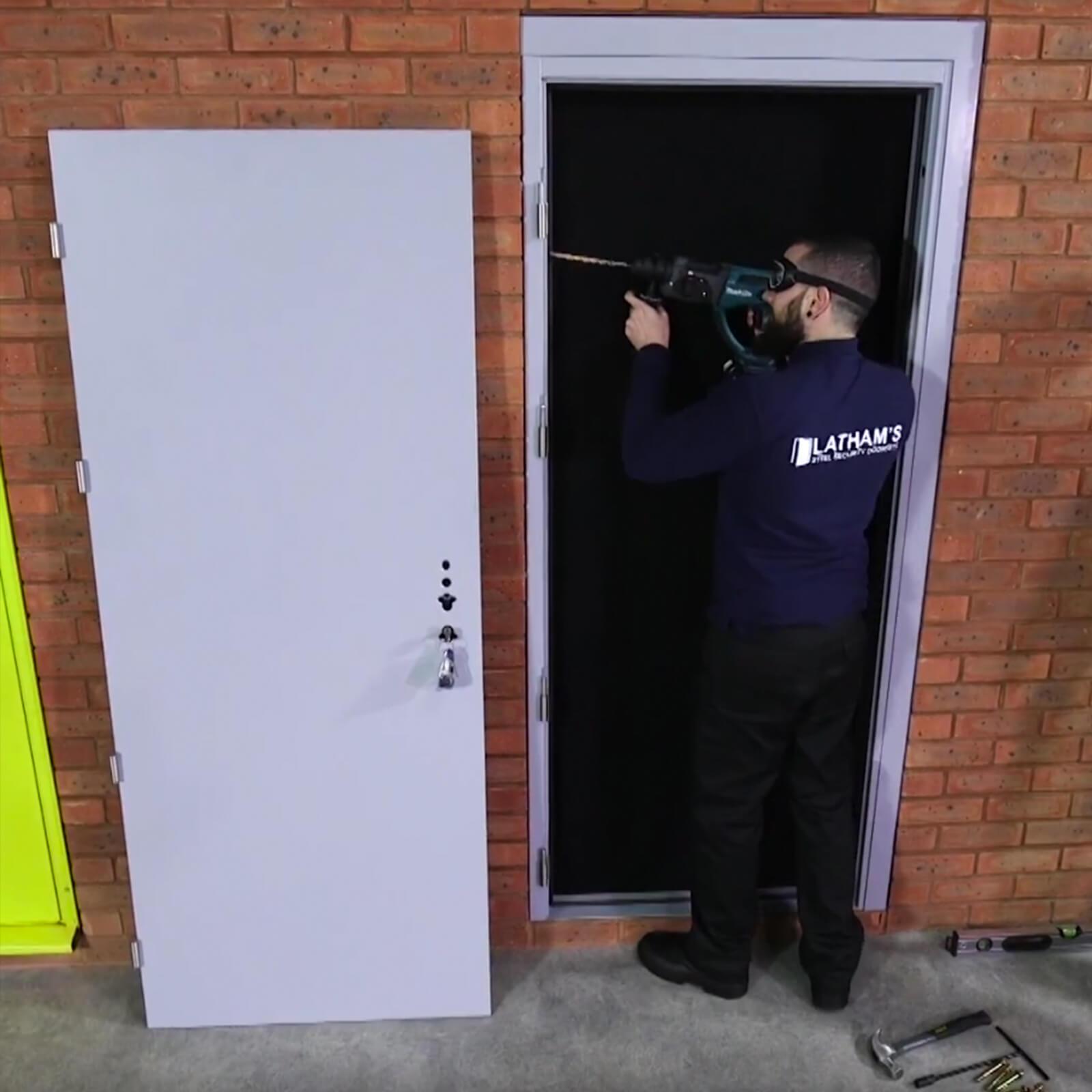 Glazed Steel Double Door Security Latham S Steel Doors