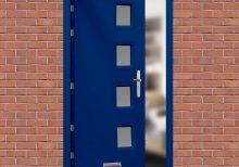 Glazed Ultramarine Blue High Security Front Door