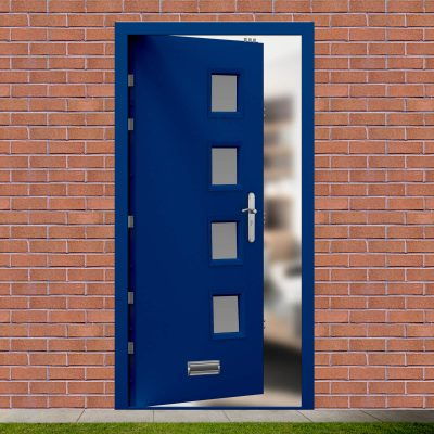 Glazed Ultramarine Blue High Security Front Door