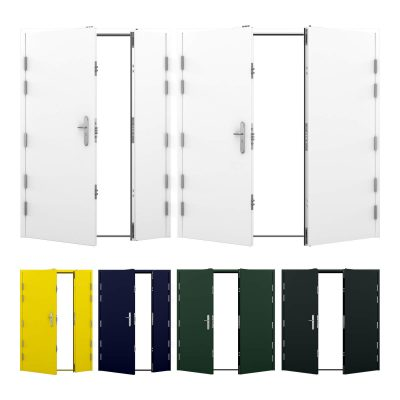 Image of high security double steel door