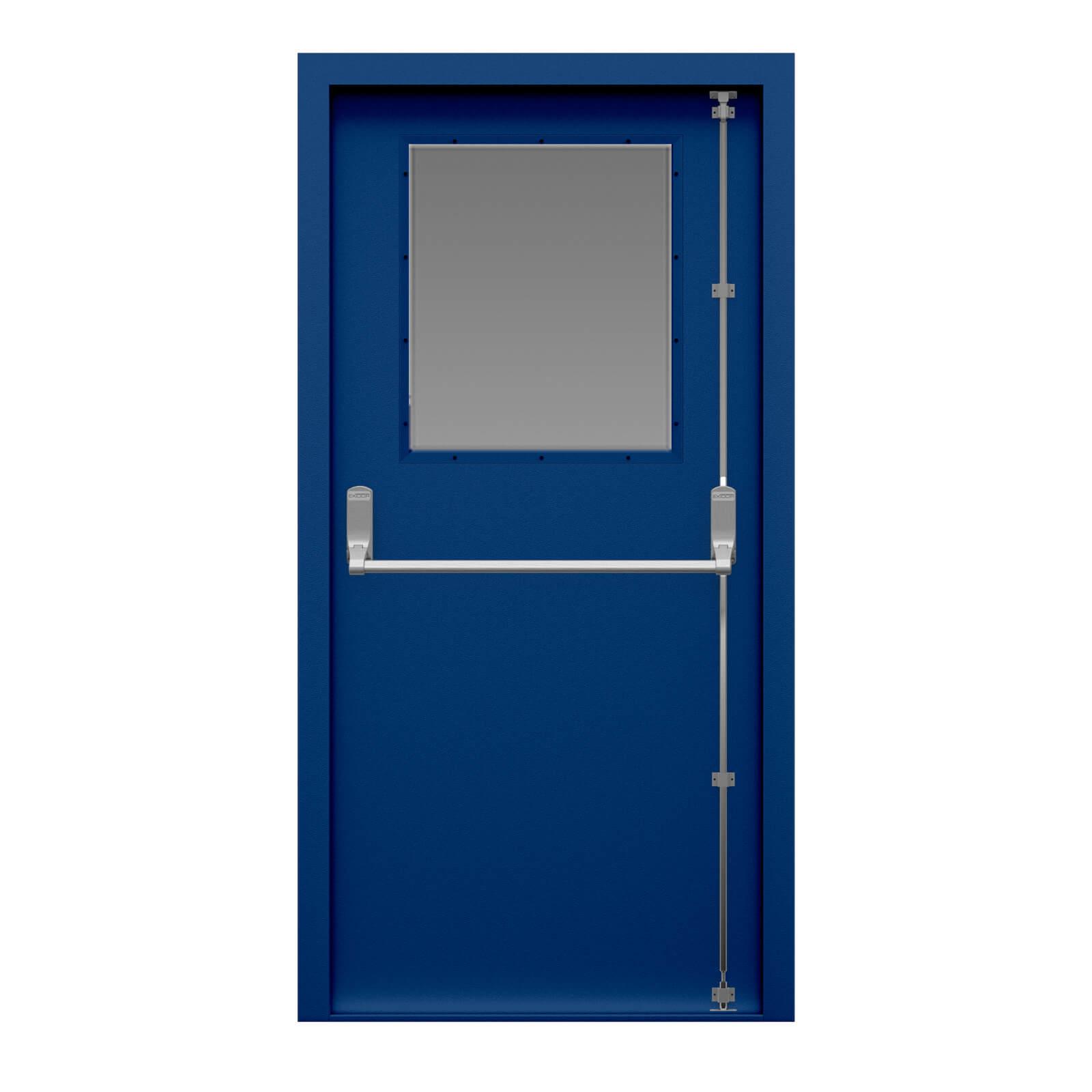 Glazed Fire Exit Door Security Latham S Steel Doors