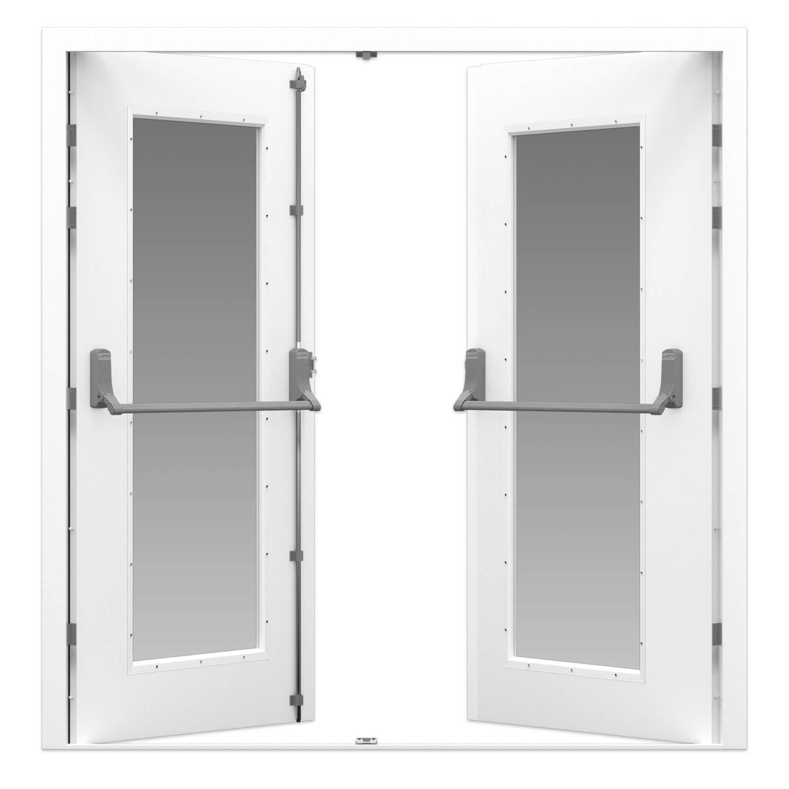 Glazed Double Fire Exit Door Latham S Steel Doors