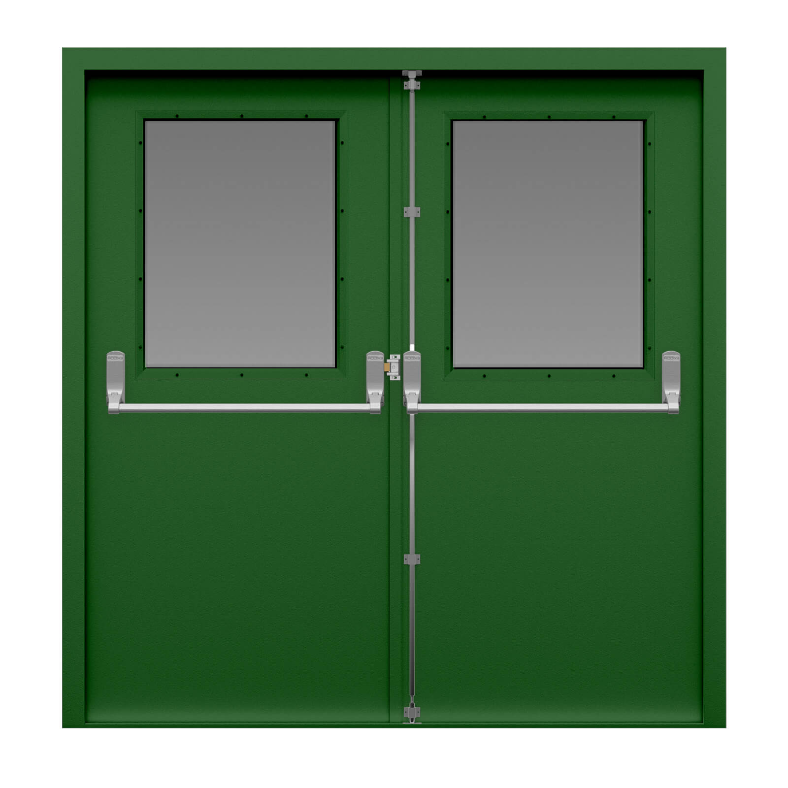 Glazed Double Fire Exit Door Latham S Steel Doors