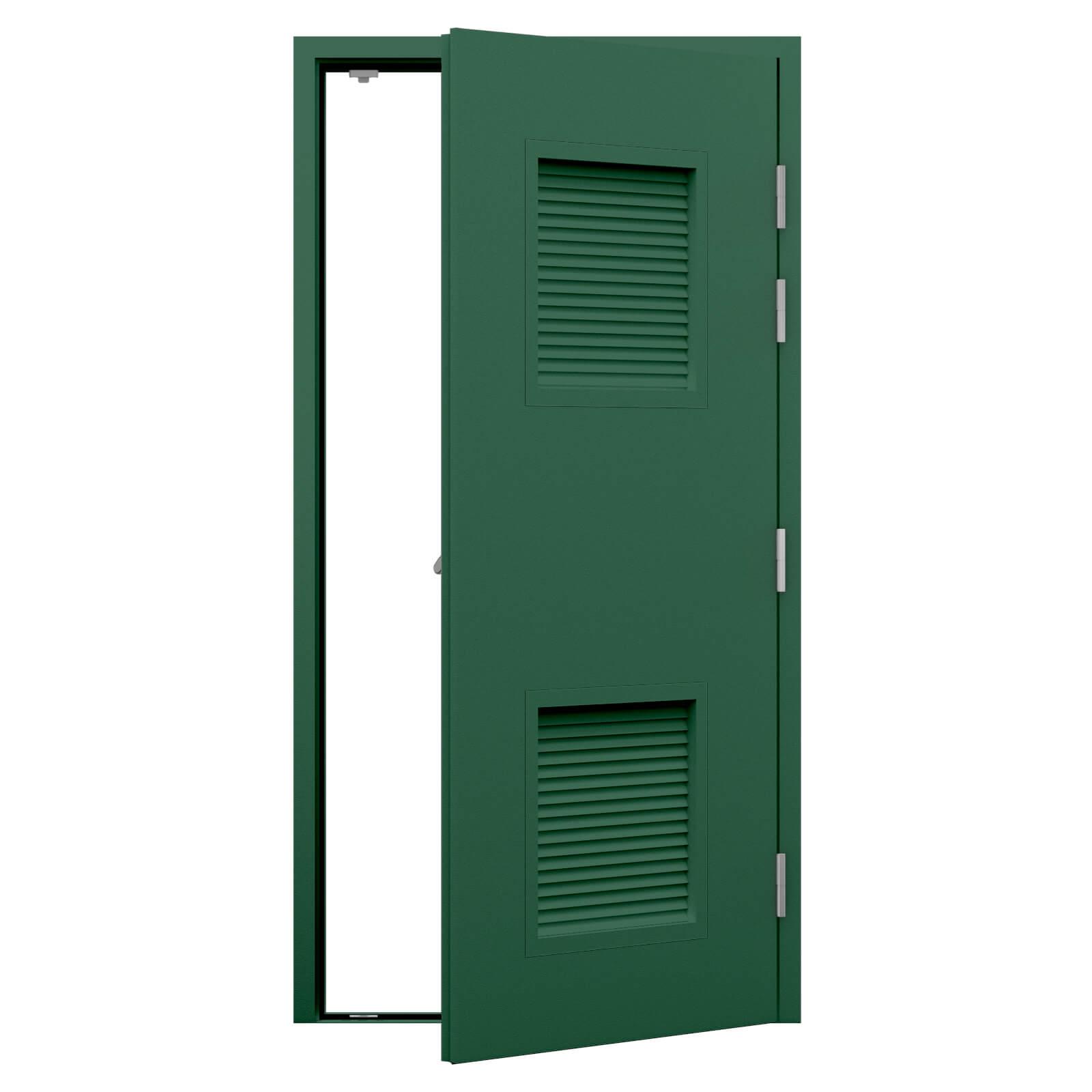 Louvred Fire Exit Door Security Latham S Steel Doors