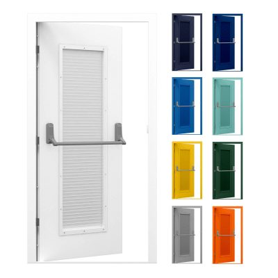 Louvred Fire Exit Door (Security) | Latham's Steel Doors
