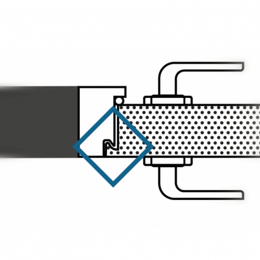 Diagram of anti-jemmy bar lip on high security steel door
