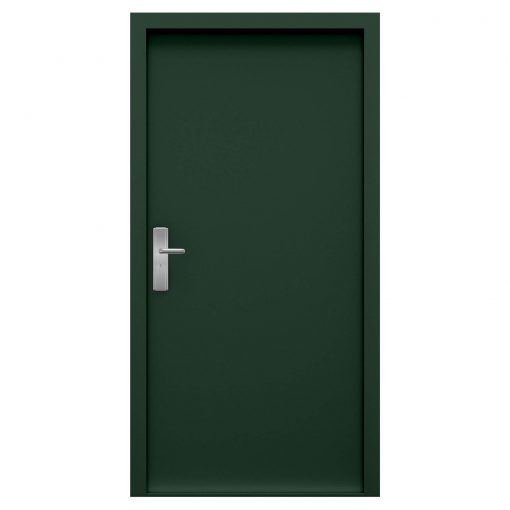 Moss green steel door