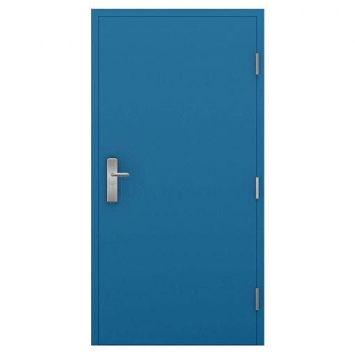 Sky blue steel door