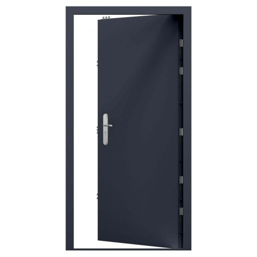 Slate grey high security steel door