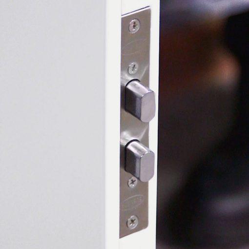 Steel door top locks