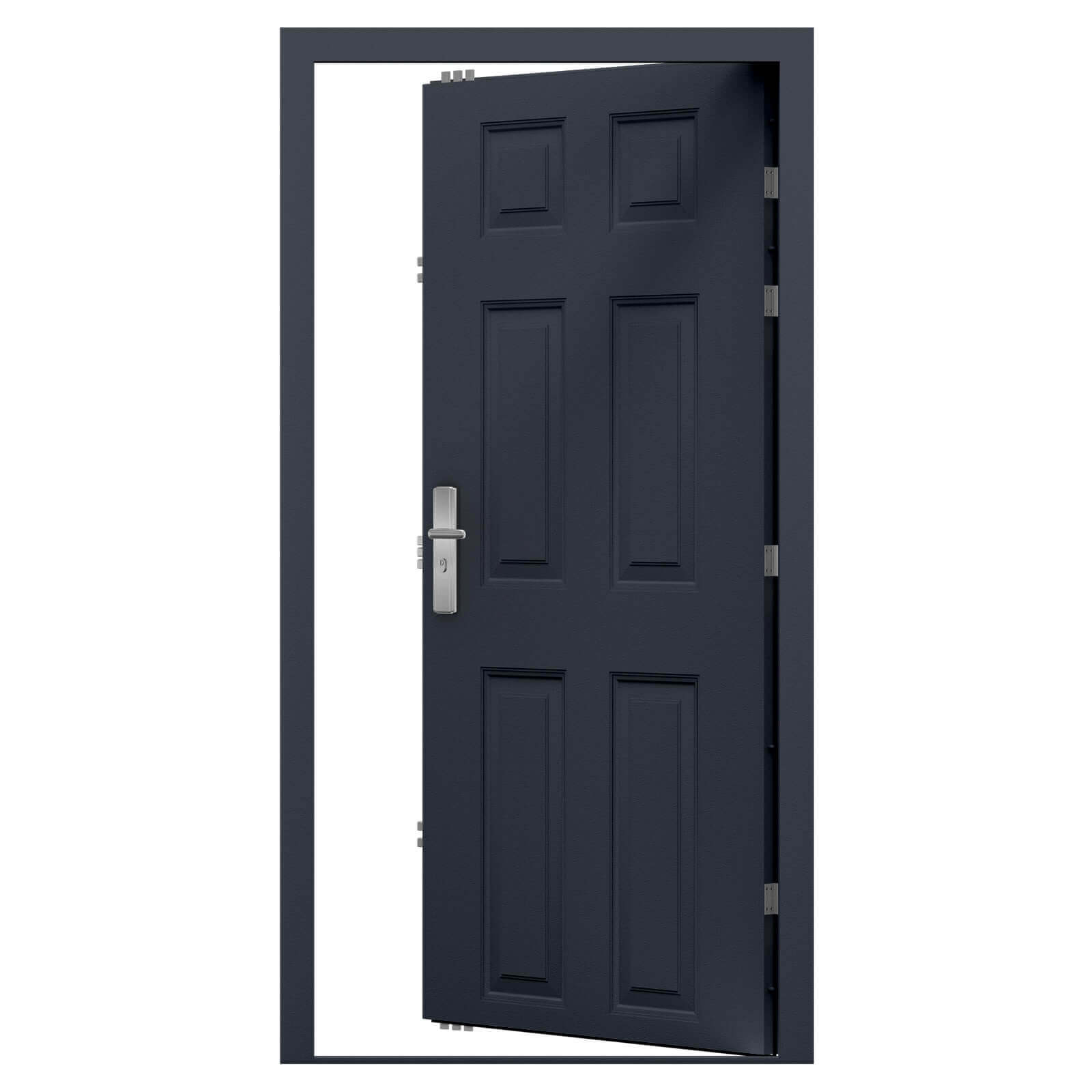 Security Panelled Steel Door 6 Panel Design Latham S