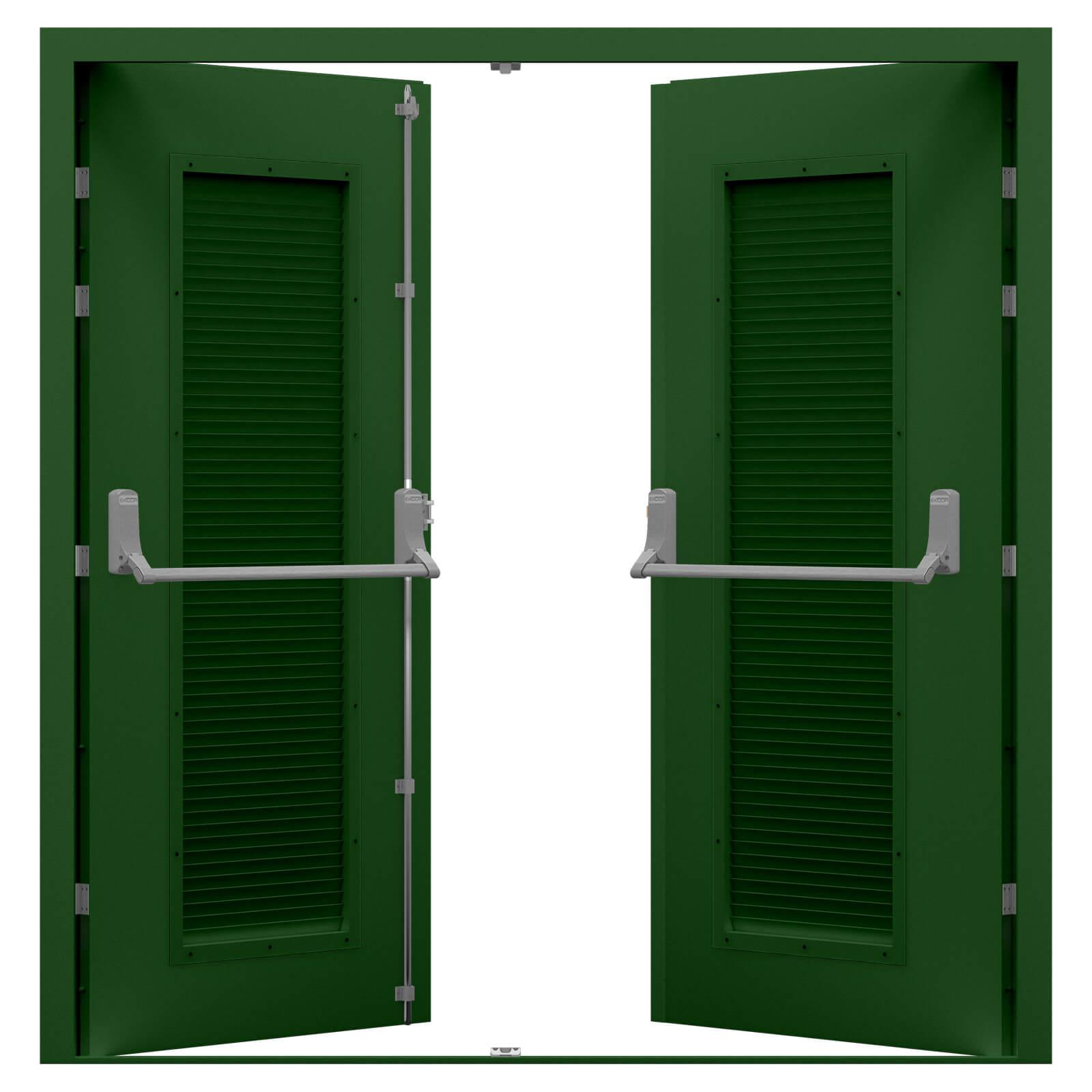 Double Fire Exit Door With Panic Bar Latham S Steel Doors