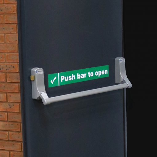 Exidor 296 Push bar fitted to Latham's fire exit door