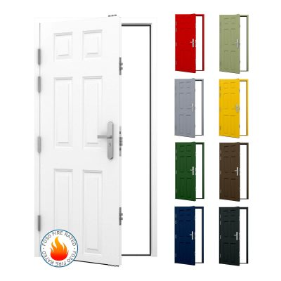 Panelled FD30 fire rated security door