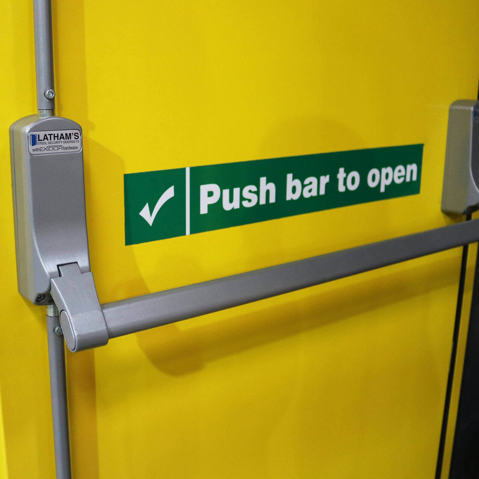 Fire Door Push Bar Mechanism