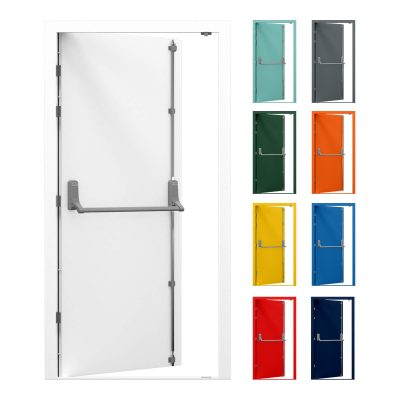 Security Fire Exit Door with Exidor 294 Panic bar