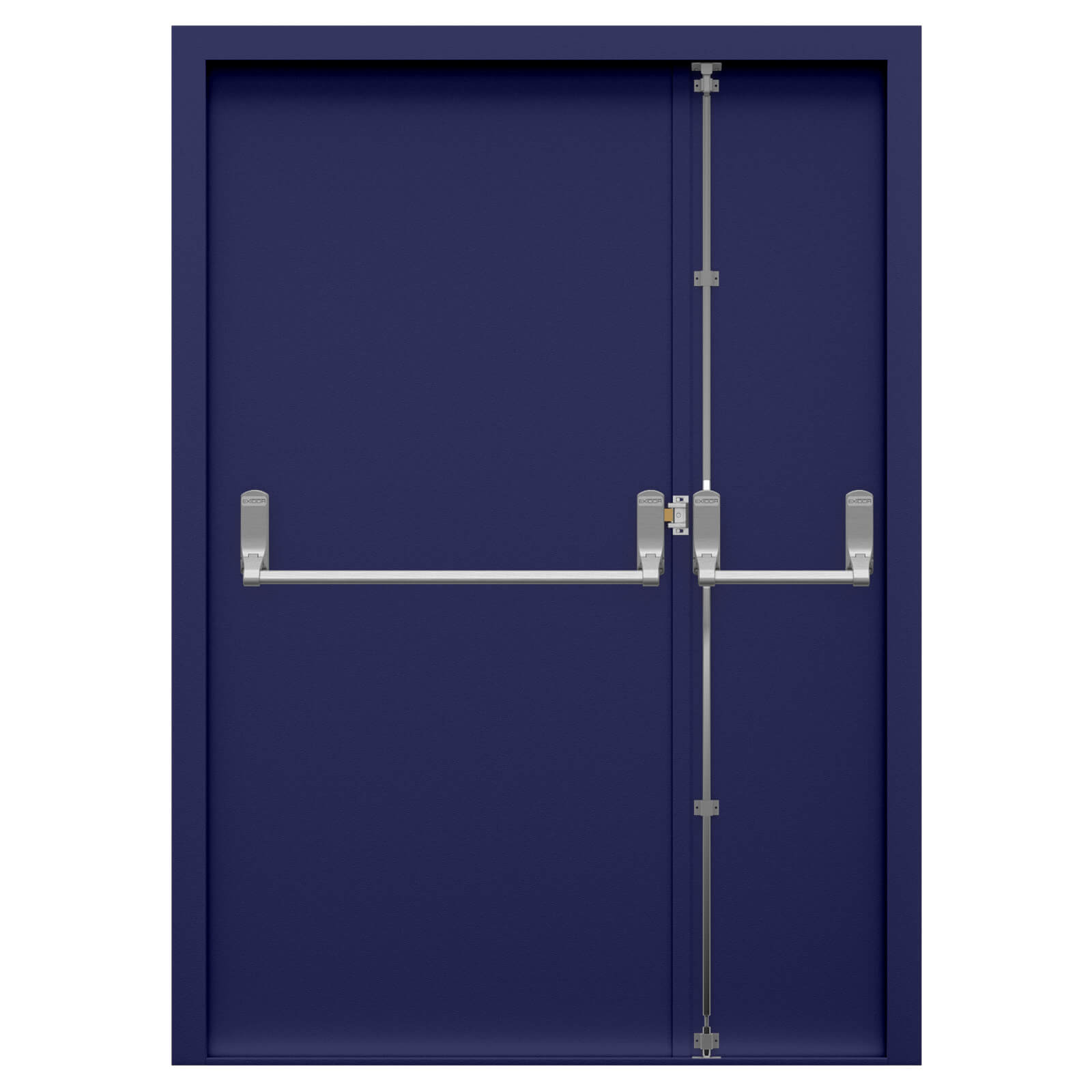 Double Fire Exit Door With Panic Bar Latham S Steel Doors