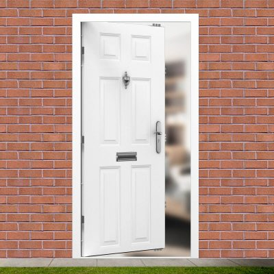 Image of Latham's budget steel front door
