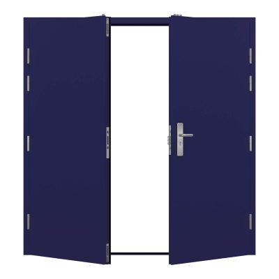 Security Double Door in ultramarine blue