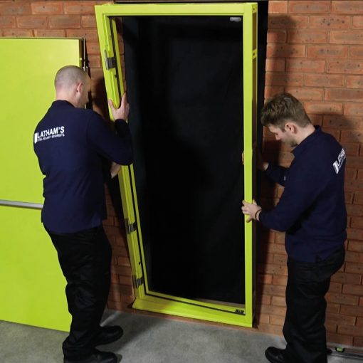 Fire exit door fitting video