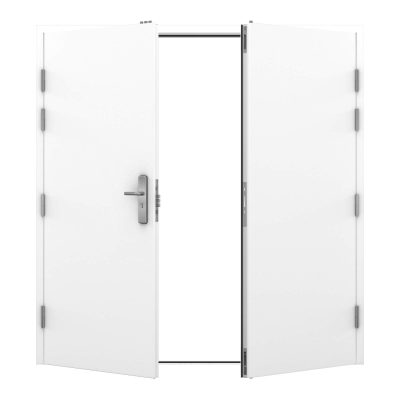White double steel door