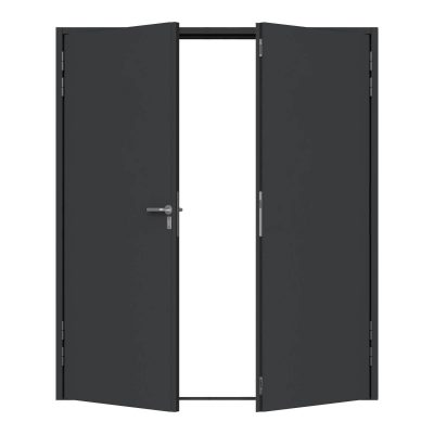 Fire rated double personnel door