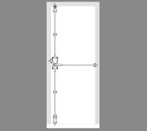 CAD drawing for the Exidor 704L lever operated emergency exit handle
