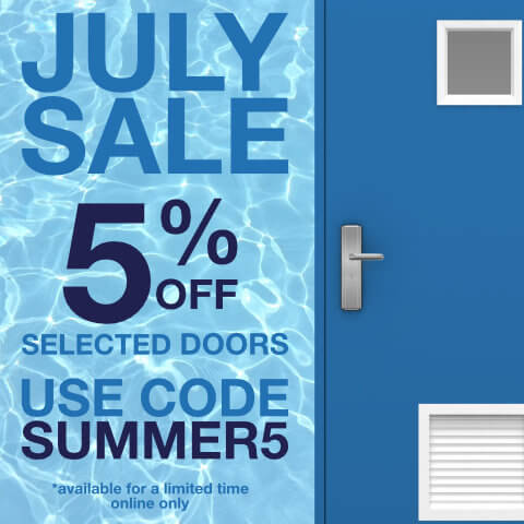 graphic showing voucher code SUMMER5 for July