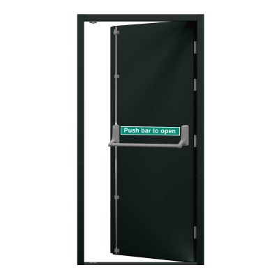 Anthracite grey security fire exit door