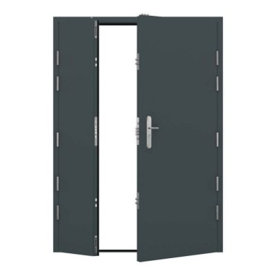 Anthracite grey ultra duty clearance leaf and a half steel door RMP194