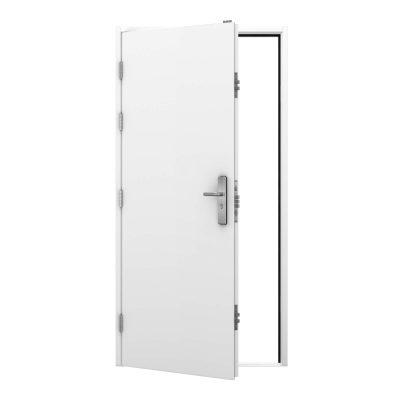Security steel door in white, clearance code RMU9
