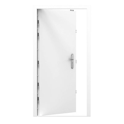 white high security steel door from our clearance range, code RMP189
