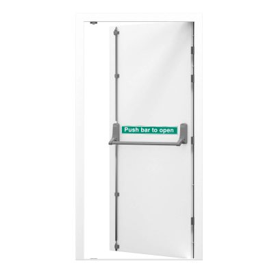 security fire exit door in white clearance code RMF159