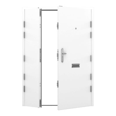 high security leaf and a half signal white door, clearance code RMP216
