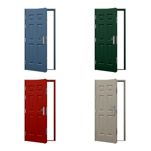 examples of high security panelled steel doors