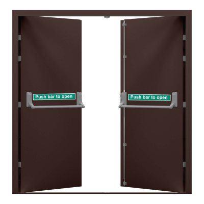 double fire exit in chocolate brown, clearance code RMP236
