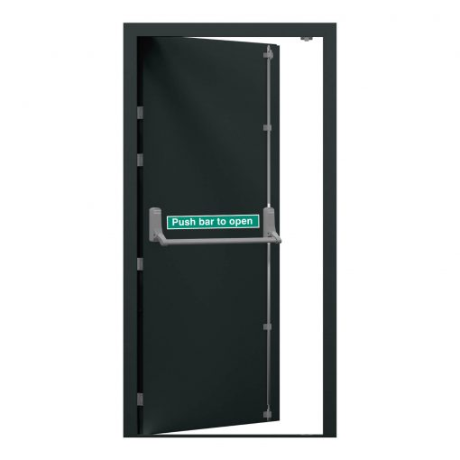 anthracite grey security fire exit door, clearance code RMF249 and RMF248
