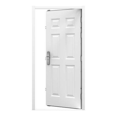 White 6 panel security door clearance code RMP187