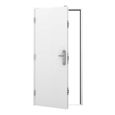 Budget steel security door in white, clearance code RMP243