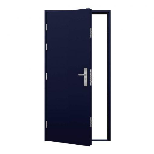 cobalt blue steel security door, clearance code RMP247