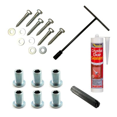 Contents of wood fixing kit
