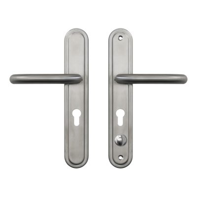 front and back of a container door stainless steel handle