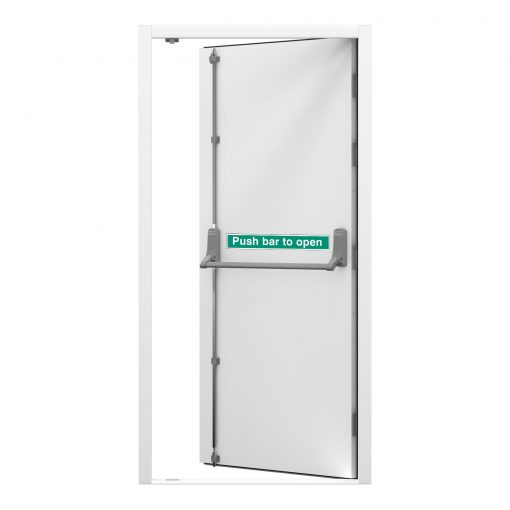 security fire exit door white