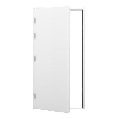 white blank steel door
