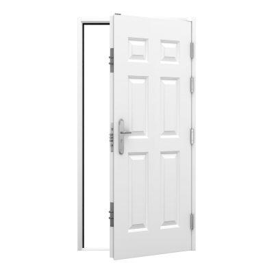 High security panelled steel door