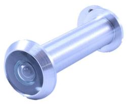 160° Door Viewer Spy Hole GLASS LENS Satin /& Polished Chrome Polished Brass