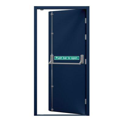 sapphire blue security fire exit door
