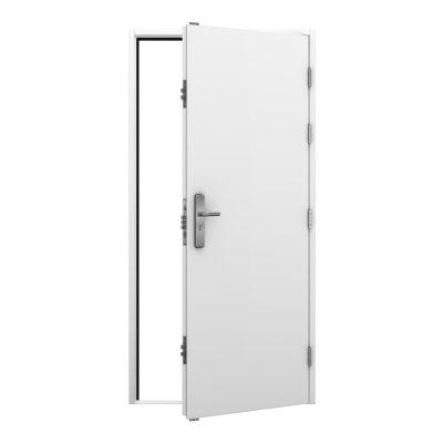 White steel security door