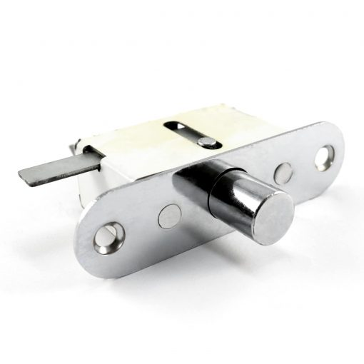 close up of a single point side lock